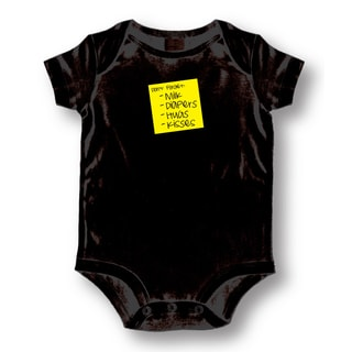 'Don't Forget Milk, Diapers, Hugs, Kisses' Black Baby Onesie