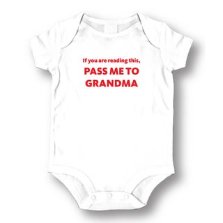 If You Are Reading This Pass Me To Grandma' White Baby Bodysuit One-piece (3 options available)