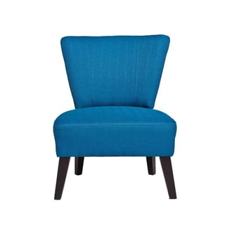 Malaga Blue Wood/Polyester Occasional Chair