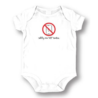 Off Switch' White Baby One Piece