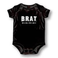 B.R.A.T.' Infants' Black Cotton Bodysuit One-piece