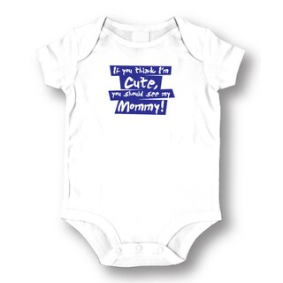 See My Mommy' Infants' White Cotton Bodysuit One-piece