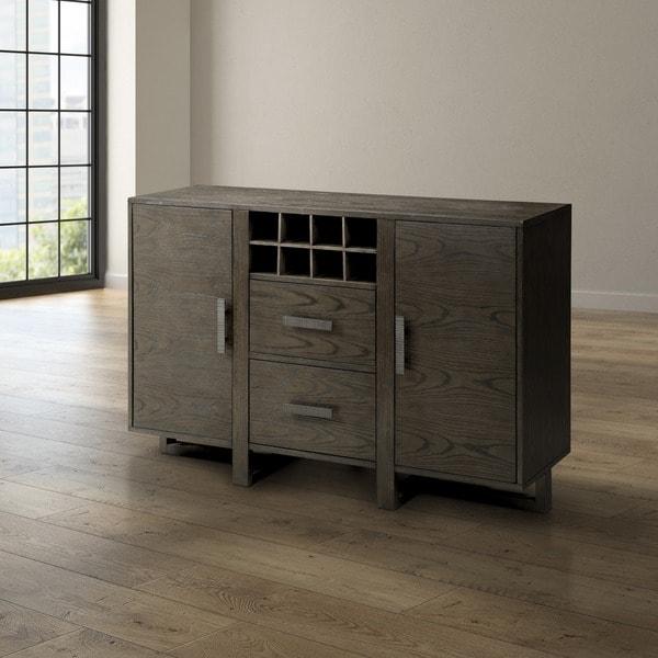 Furniture Of America Basson Rustic Grey Dining Server
