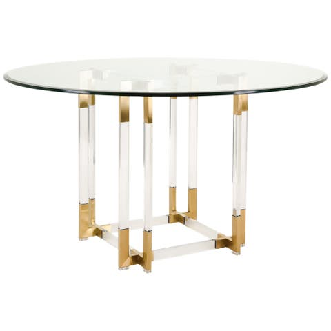 SAFAVIEH Couture High Line Collection Koryn Acrylic Dining Table