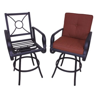 Aspen Sunbrella Upholstered Bar Height Bar Stool (Set of 2)