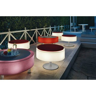Contempo Lights Zola ABS Color-changing Coffee Table