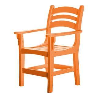 Pawleys Island Hammocks Orange Durawood Casual Dining Chair with Arms