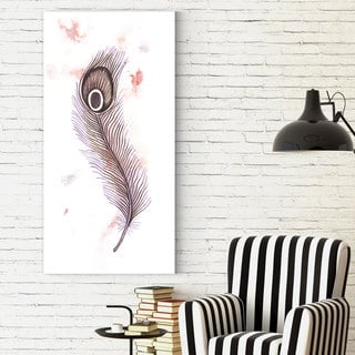 Dmitry Andruz 'Feather 3' Gallery-wrapped Canvas Print