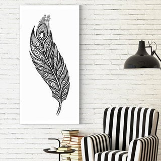 Wexford Home 'Doodle Feather 3' Canvas Wall Art