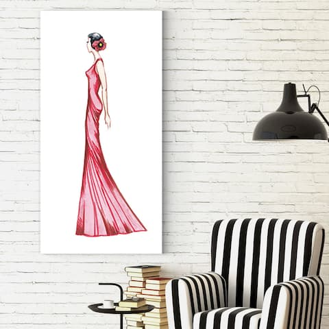 Dmitry Andruz 'Red Dress 3' Gallery-wrapped Canvas Print