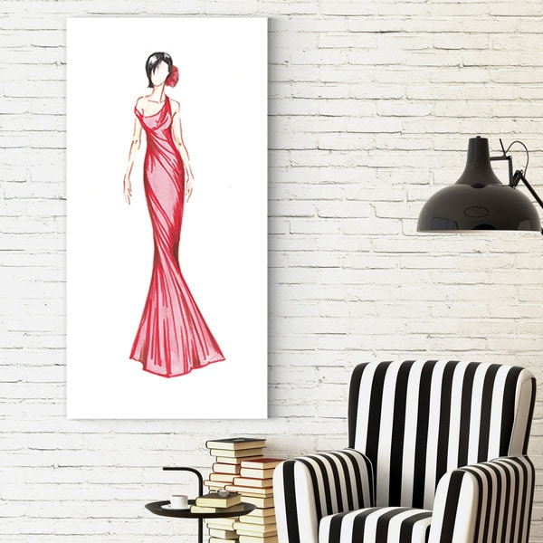 Wexford Home Dimity Andruz's 'Red Dress 1' Canvas Artwork 22833034