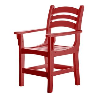 Durawood Red Casual Dining Chair with Arms