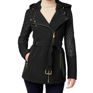 Michael Kors Black Quilted Hooded Coat
