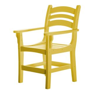 Durawood Yellow Casual Dining Chair with Arms