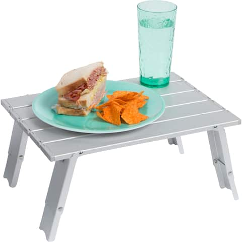 Trademark Innovations Aluminum 15.7-inch Compact Folding Beach/Camping Table