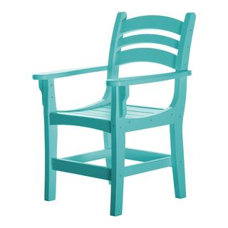 Durawood Casual Dining Chair with Arms - Turquoise