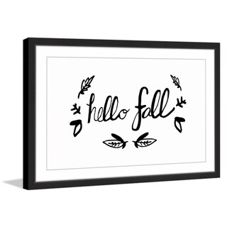 Marmont Hill - 'Hello Fall' by Sarah Patrick Framed Painting Print
