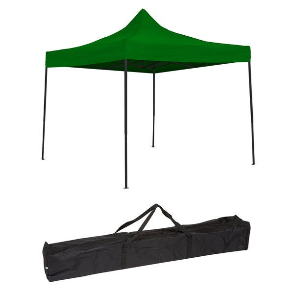 Trademark Innovations Green 10-foot Lightweight and Portable Canopy Tent Set