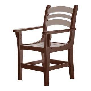 Durawood Casual Dining Chair with Arms - Chocolate/Weatherwood