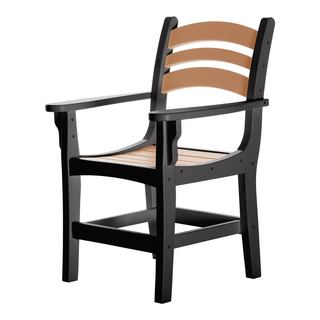 Durawood Casual Dining Chair with Arms - Black/Cedar