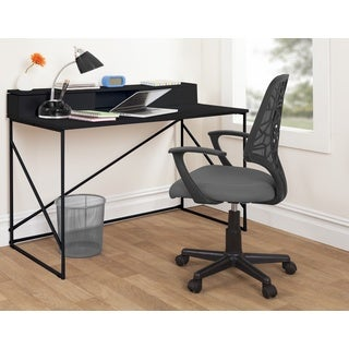 Black Metal Flip-top Desk