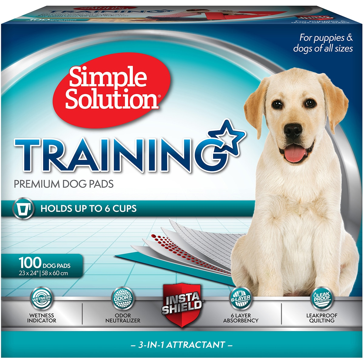 Simple Solution Pet Training Pads (Large, 100 count), Multi