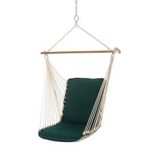 Pawleys Island Hammocks Forest Green Canvas Cushioned Single Swing