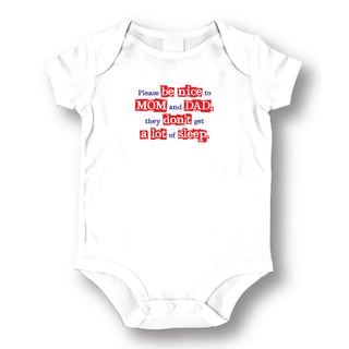 White 'Please Be Nice' Baby Bodysuit