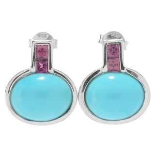 SS Sleeping Beauty Turquoise and Choice of Gemstone Earring