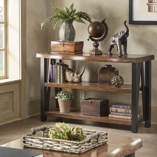Banyan Live Edge Wood and Metal Console Sofa Table Bookshelf by iNSPIRE Q Artisan https://ak1.ostkcdn.com/images/products/13768910/P20422551.jpg?impolicy=medium