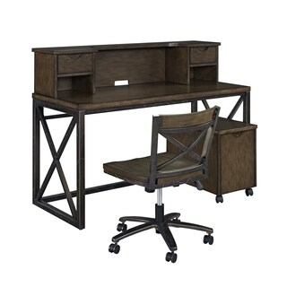 Xcel Office Desk; Hutch; Mobile File & Swivel Chair by Home Styles