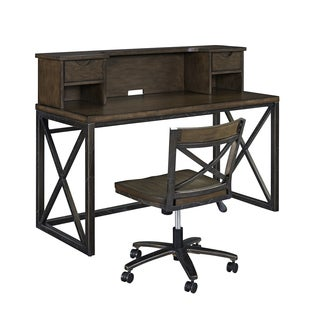 Xcel Office Desk with Hutch & Swivel Chair by Home Styles