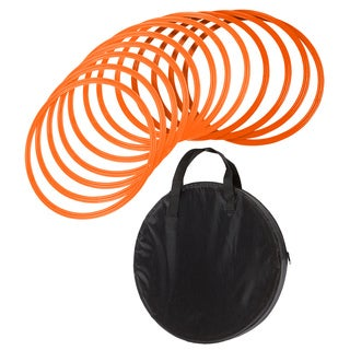16-inch Orange Speed and Agility Training Rings (Set of 12)