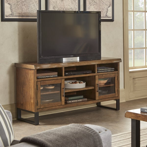 Shop Banyan Live Edge Wood And Metal Tv Stand Media Console By