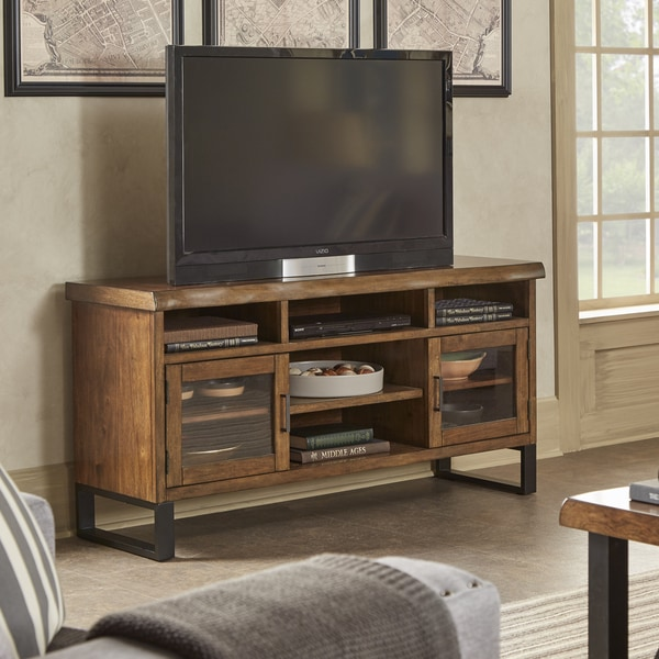 shop banyan live edge wood and metal tv stand media. Black Bedroom Furniture Sets. Home Design Ideas