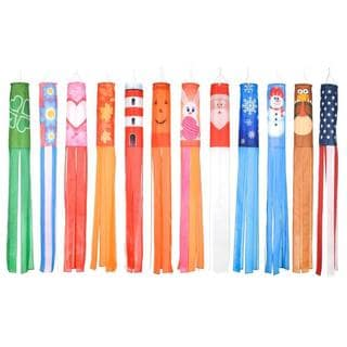 Trademark Innovations Multicolored Polyester 60-inch Seasonal Theme Windsocks (Pack of 12)