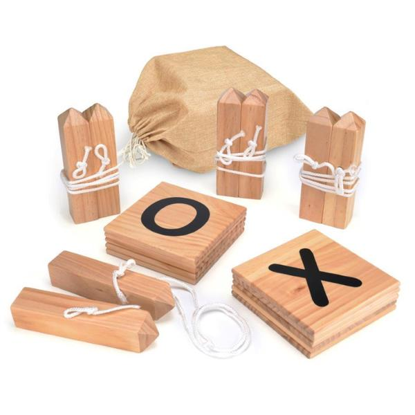 Trademark Innovations Wooden Giant Tic Tac Toe Backyard Game