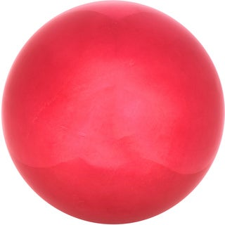 Trademark Innovations Red Stainless Steel 10-inch Gazing Mirror Ball