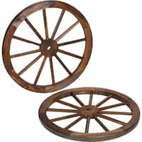 Trademark Innovations Fraser Fir and Steel Rim 24-inch Decorative Vintage Wagon Wheel