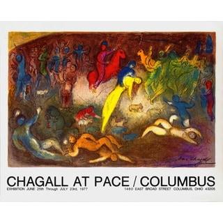 Marc Chagall 'Enlevement de Chloe (Abduction of Chloe)'' 1977 Vintage Lithograph, 25 x 33.5 inches