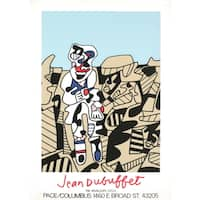Jean Dubuffet 'Inspection of the Territory-1974' Serigraph Poster, 33.5 x 23.5 inches