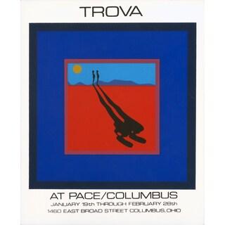 Ernest Trova 'Falling Man-1972' Serigraph Artwork, 31.25 x 25.75 inches