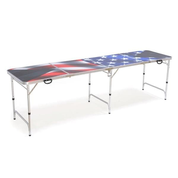 Red Cup Pong American Flag Premium HD Design 8-foot Beer Pong Table