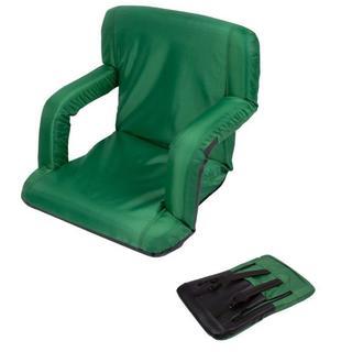 Trademark Innovations Green Portable Multiuse Adjustable Recliner Stadium Seat