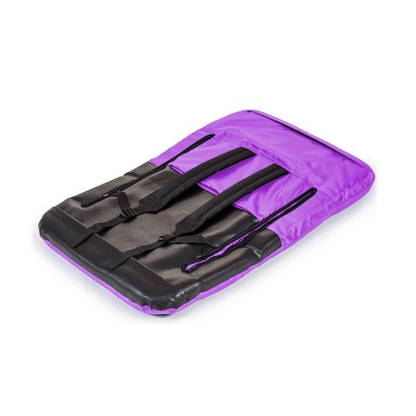 Trademark Innovations Purple Portable Multipurpose Adjustable Recliner Stadium Seat