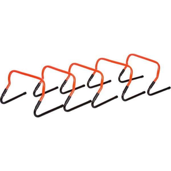 Trademark Innovations Orange Plastic Adjustable Speed Training Hurdles (Pack of 5)