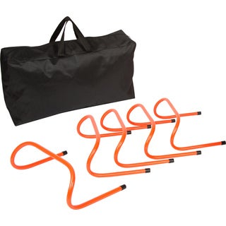 Trademark Innovations Orange Plastic 6-inch Speed Training Hurdles With Case (Pack of 5)