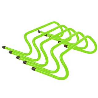 Trademark Innovations Light Green Plastic 6-inch Speed Training Hurdles (Pack of 5)