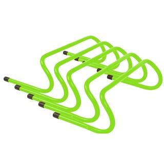 Trademark Innovations Light Green Plastic 6-inch Speed Training Hurdles (Pack of 5)