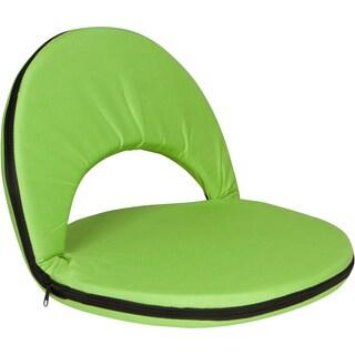 Trademark Innovations Light Green Portable Multiuse Adjustable Recliner Stadium Seat